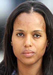 (Foto: L'attrice Kerry Washington senza makeup)